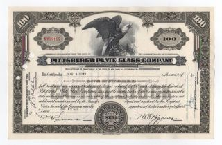 Pittsburgh Plate Glass Company Stock Certificate photo
