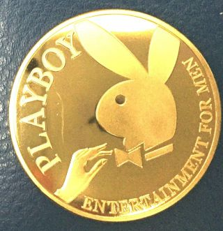 1 Oz Playboy Men Entertainement Finished In 24k Gold Coin photo