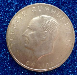 Turkey 1960 10 Lira Silver Coin - Uncirculated photo