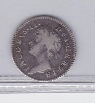 Great Britain 3 Pence 1687 Jacob Ii photo