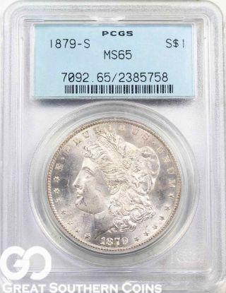 1879 - S Morgan Silver Dollar Pcgs Ms 65 Gorgeous Semi Pl Blazer,  S/h photo