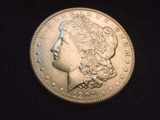 1904 Morgan Dollar Extraordinary Bu Coin - - - 110 photo