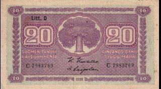 Finland - 20 Markkaa - 1939 - P71a - Af photo