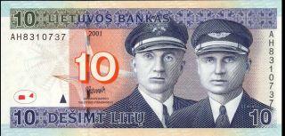 Lithuania - 10 Litų - 2001 - P65 (b176a) - Ef photo