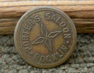 Ca 1897 Rocklin California (placer Co) Rare Ev7