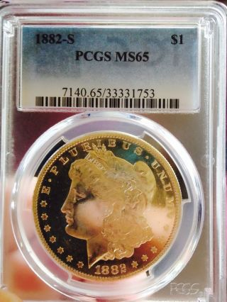 1882 S Morgan Pcgs Ms65 Coin Looks Fully Proof Like Wow Coin photo