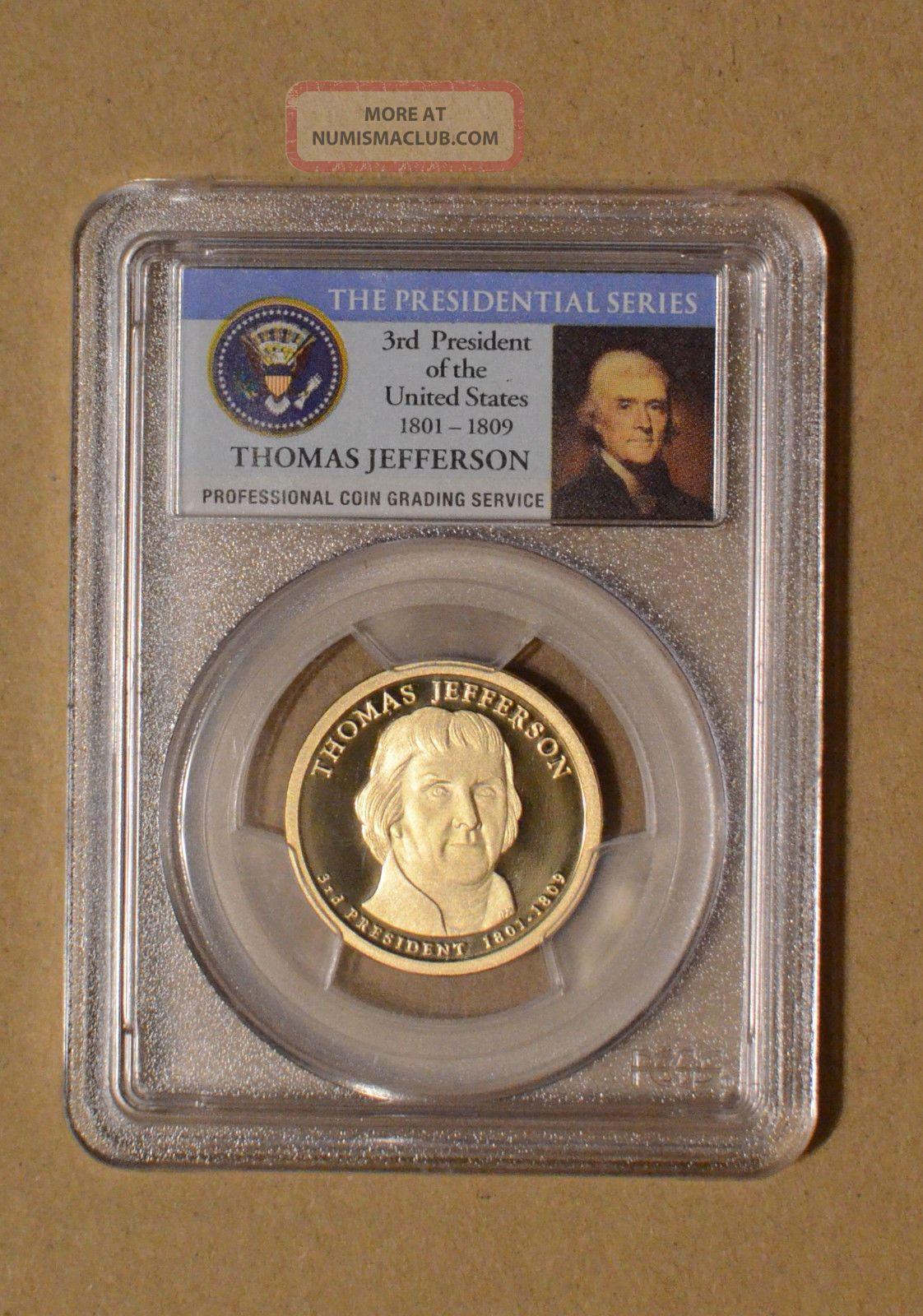 2007-S Thomas Jefferson 3rd President  Presidential Dollar PCGS PR69DCAM