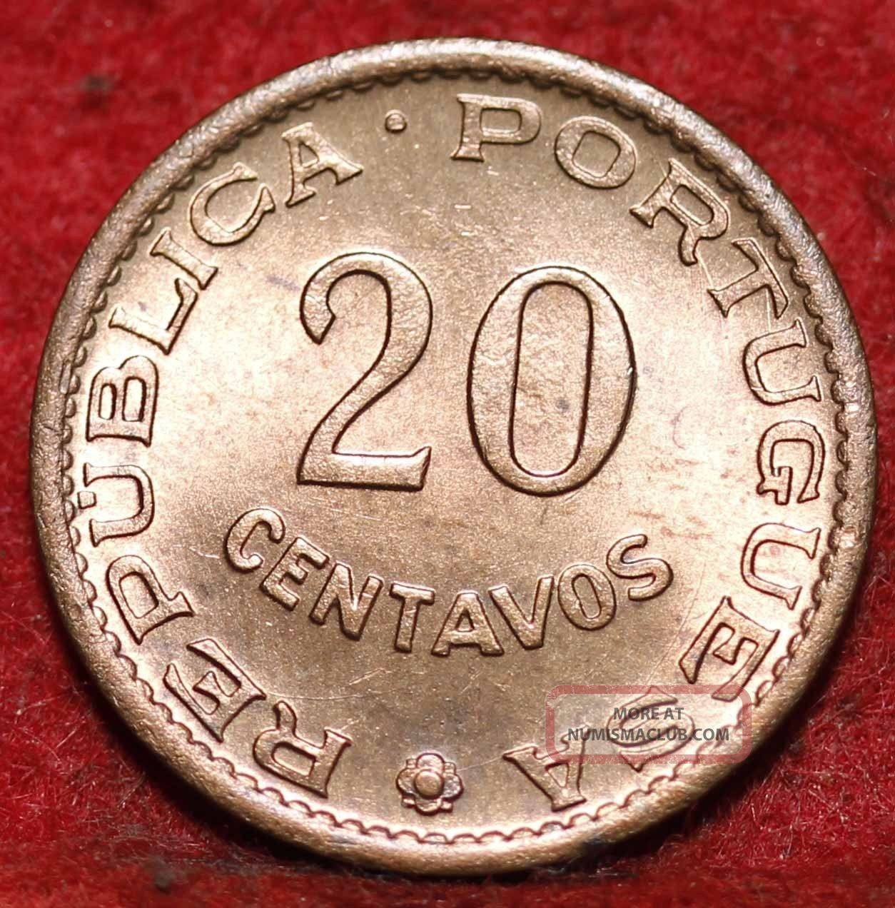 Uncirculated 1962 Portuguese St.  Thomas And Prince Island 20 Cents Foreign Coin Europe photo