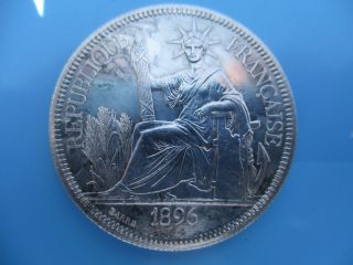 1896a French Indo - China Piastre,  Xf photo