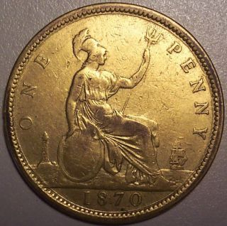 1870 Great Britain Penny photo