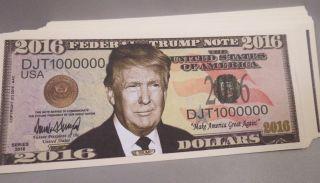 Of 100 Donald Trump For President Money 2016 Usa Dollar Bills Us photo