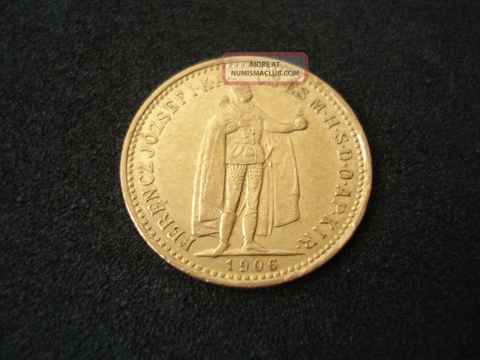 Hungary,  10 Korona,  1906,  Gold Europe photo