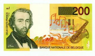 Belgium … P - 148 … 200 Francs … 1995 … Unc. photo