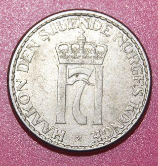 Norway Copper - Nickel Coin 1 Krone 1956 photo