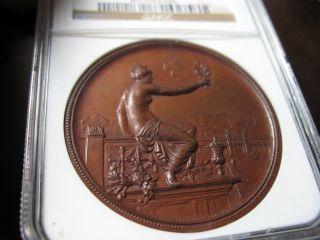 1895 Switzerland Bronze Medal Zurich Ngc Ms - 64 Richter - 1756d (swiss) R - 1756d photo