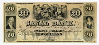 1800 ' S $20 The Canal Bank - Orleans,  Louisiana Note Au photo