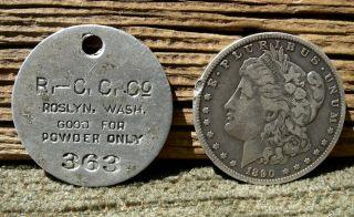 Ca 1900 Roslyn Washington Wa Kittitas Mining Roslyn Coal & Coke Powder Good For photo