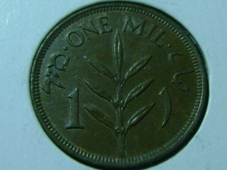 1927 Palestine (british Mandate) 1 Mil Coin photo
