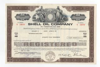 Shell Oil Company Bond W/vignette Of Man & Woman photo