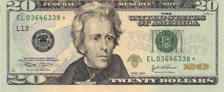 2004 - $20 Federal Reserve Star Note - San Francisco - Uncirculated Gem Crisp photo