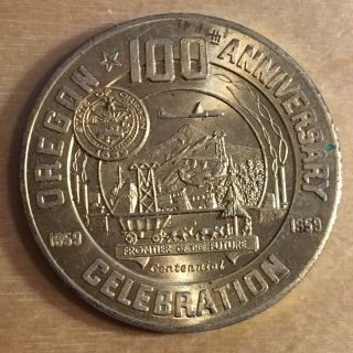 Oregon 100th Anniversary Celebration Good For 50 Cents Token photo