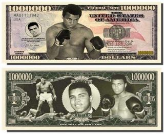 Muhammad Ali Million Dollar Bills Fresh Off The Press W/ Bonus Penny photo