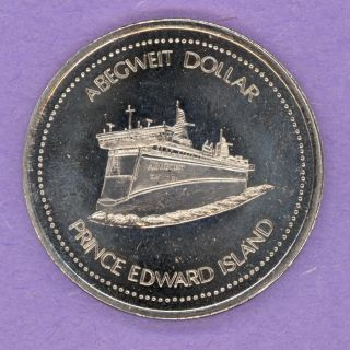 1983 Summerside Prince Edward Island Trade Token Or Dollar S S Abegweit Ferry photo