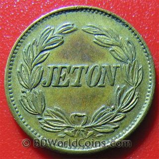 Napoleon French Jeton Token Spiel Marke France (ca.  1800) Play Money No Silver photo
