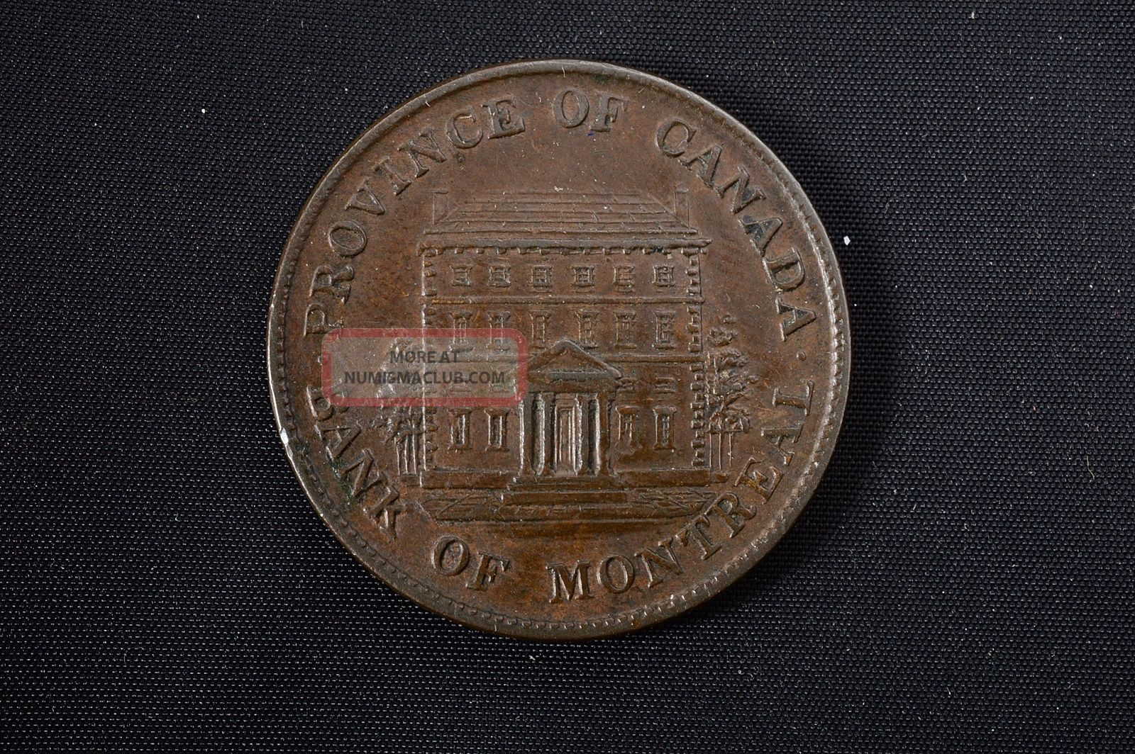 Rare 1844 Canada - Bank Of Montreal - Half Penny Token - Detail No Res Coins: Canada photo