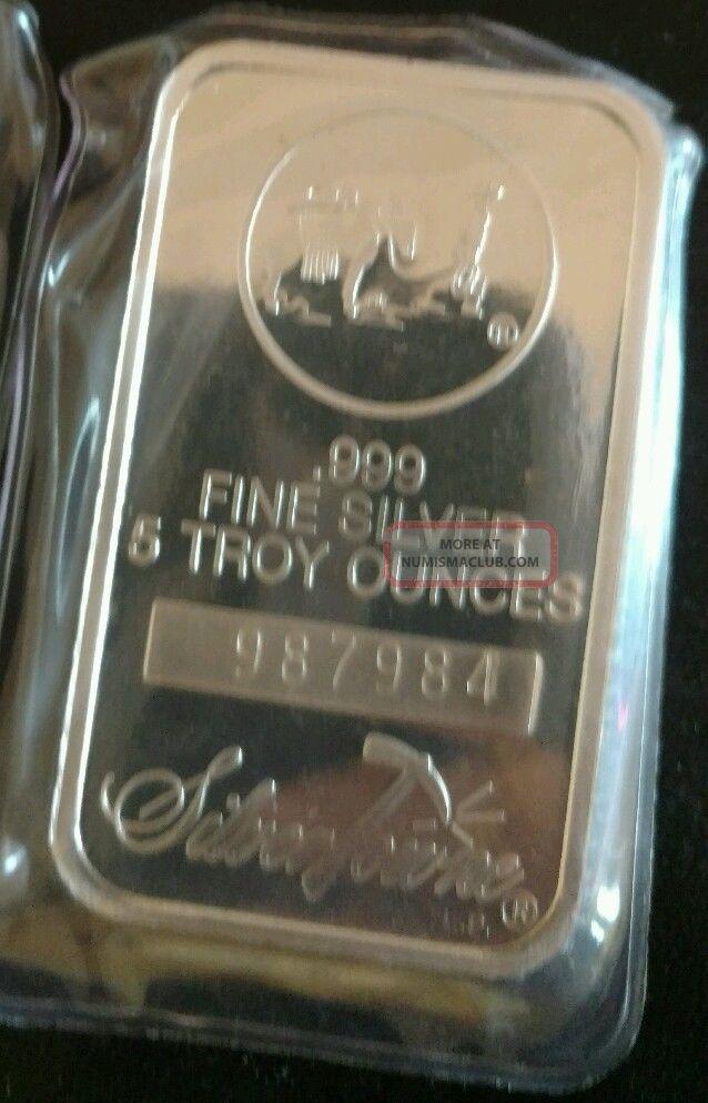 5 Oz Silvertowne Silver Bar 999 Fine