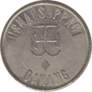 Vietnam Military Token - Usnavsuppact Danang - 5c In Trade photo