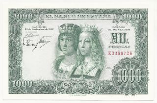 Spain España 1000 Pesetas 29 - 11 - 1957 Pick 149 Unc Uncirculated Banknote photo