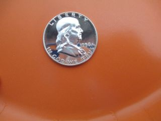 1958 Cameo Proof Franklin Half Dollar (rare Find) Worthy Of photo