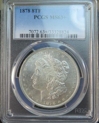 1878 8tf Morgan Dollar Pcgs Ms63, photo