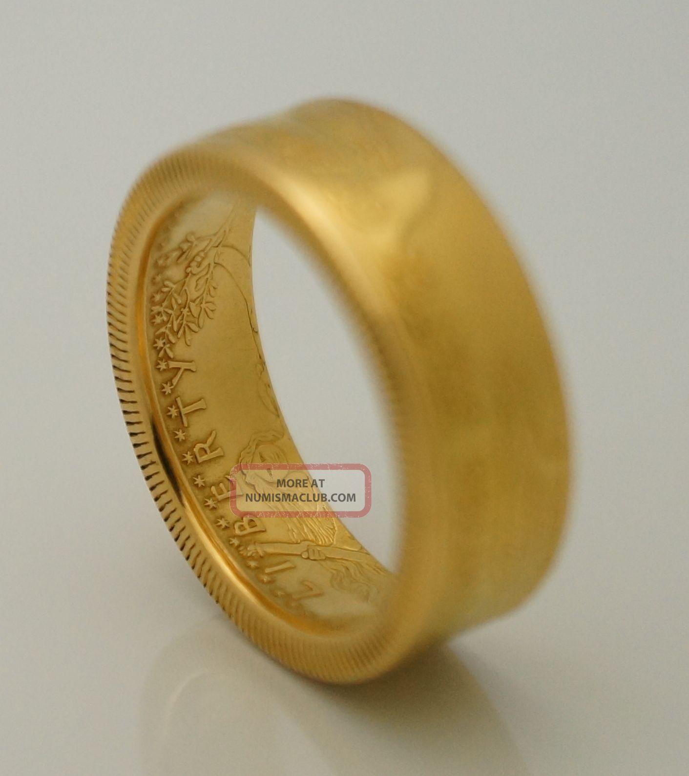 2016 Gold 1 2 Oz American Eagle Coin Ring 22k Men S Wedding Band Size 8 12