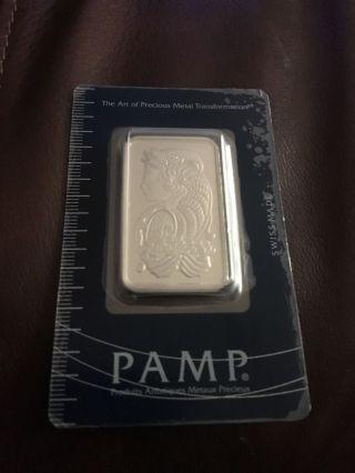 1 Oz Pamp Suisse Palladium Bar.  9995 Fine photo