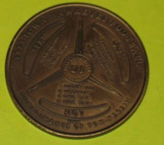 Vintage 1973 University Of Iowa Hawkeyes Football Basketball Schedule Coin Token photo