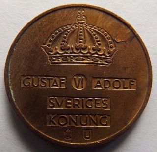 1963 Sweden 5 Ore Coin photo