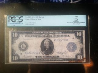 1914 $10 Federal Reserve Note photo