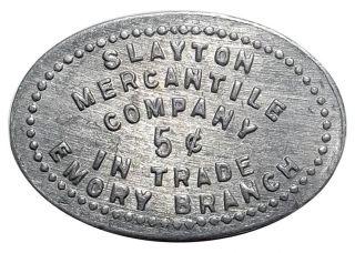 Montana Trade Token - Slayton Mercantile,  Emory Mt (ghost Town,  1910s) 5¢ photo