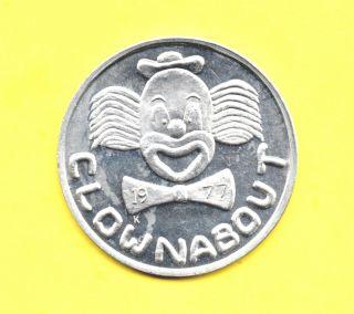 Circus Clown Token 1977 Clownabout Coin photo