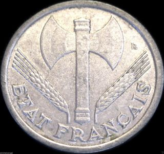 France - 1942 Franc Coin - Great Coin - Ww 2 Nazi Vichy French State Issue photo