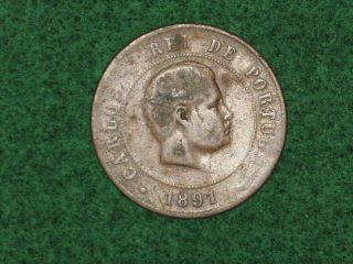 Vintage Coin Portugal 1891 Cir. photo