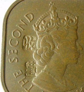 1957 Malaya British Borneo 1 Cent Coin Chopped Mark