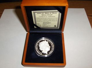 Australia 2004 Kangaroo Mob Of Roos Silver Proof $1 Coin 6,  500 Minted