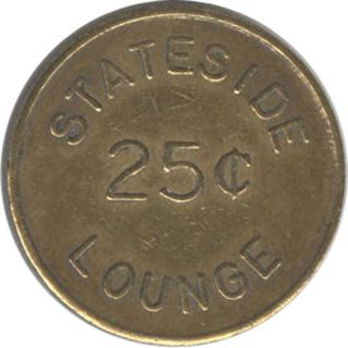 Vietnam Military Token - Stateside Lounge - 25c photo