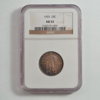 1925 Standing Liberty Quarter Dollar,  Variety 2 - Ngc Au53 G55 photo