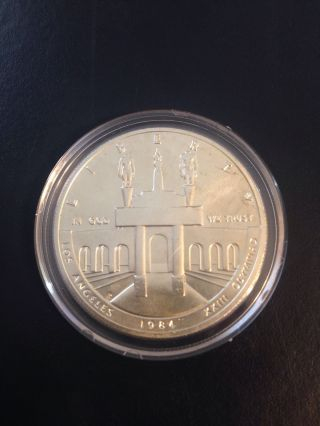 1984 - P $1 Olympic Silver Dollar 90 Silver.  900 photo