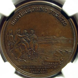 1901 Evacuation Of Boston Medal - Ms63 Bn Ngc - Hk131,  Massachusetts Token,  Unc photo