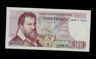 Belgium 100 Francs 11 - 02 - 1974 Pick 134b Au - Unc Banknote. photo